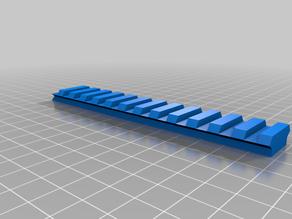 Nerf picatiny rail