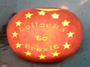 Bollocks to Brexit - laser engraved pumpkin