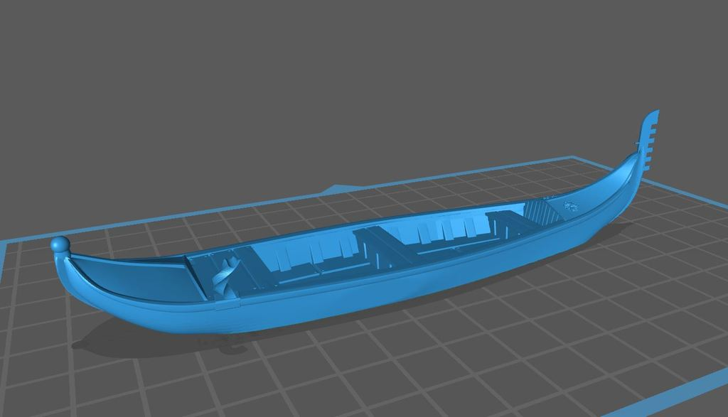 Gondola for Tabletop 28mm / Venice Style