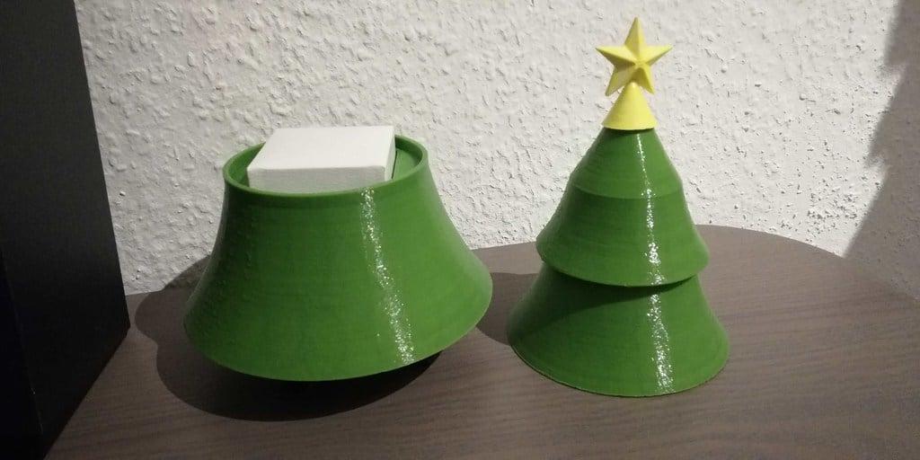 Simplified Christmas Tree Gift Box