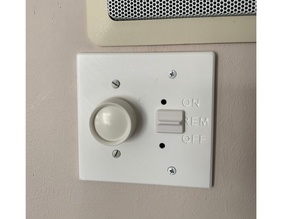Fireplace remote wall switch plate cover (Skytech)