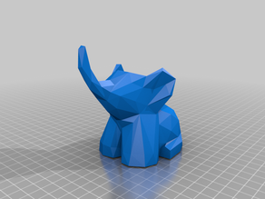 Cute Low Poly Elephant