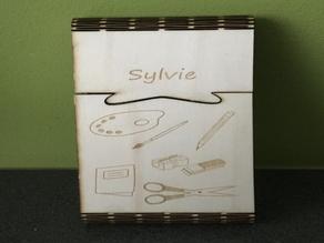 Lasercut Living hinge pen box