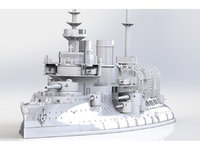 Pre-dreadnought Battleship Bouvet (1896) 1/700