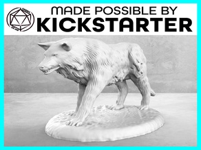 Wolf - Action Pose - Tabletop Miniature