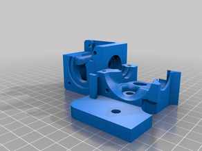 Direct Drive Creality Bltouch -- Remixed from Prusa alike extruder for Ender 3