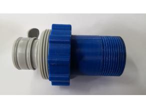 Intex adapter to standard 1 1/2 Inch pipe thread (BSP)