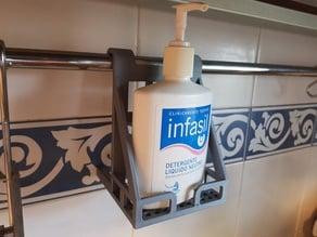 Liquid soap holder for kitchen