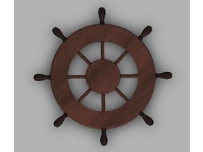 Sail Boat Helm Steering Wheel. Ship