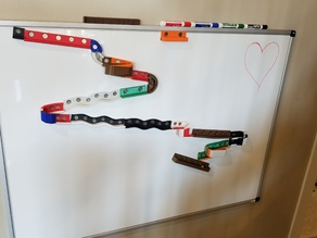 White Board Magnetic Marble Track