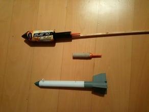fireworks driven model rocket