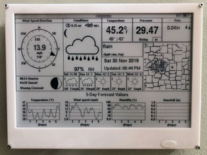 """Waveshare 7.5"""" e-paper weather display"""