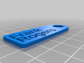 My Customized Simple  Key Tag
