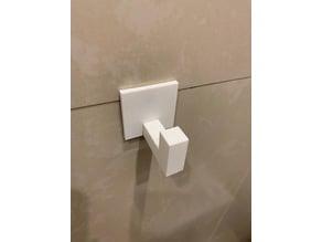 Towel hook with hidden screw