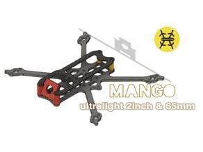 "Mango : 2"" & 65mm ultralight quadcopter frame"