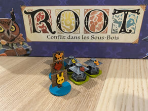 ROOT BoardGame - Tokens 3D Riverfolk expansion
