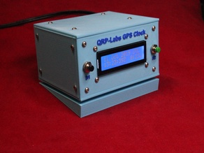 Angled stand for the QRP-Labs GPS Clock with the smaller display LCD