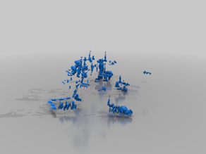 Slaanesh ship gubbins - bfg - chaos