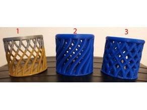3 pencils pots
