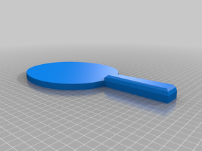 Low Poly Ping Pong Paddle