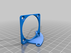 5015 fan bracket for 40mm fans for the Mini-Me hotend duct