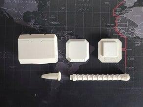 Mjolnir - Thor's Hammer Bic Pen - split in parts