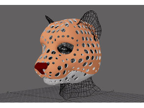 Fursuit- or puppet-head base - version 80 - Khajiit