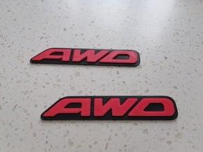 All Weel Drive logo  - AWD