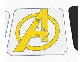 Modular Trailer Hitch Avengers Faceplate