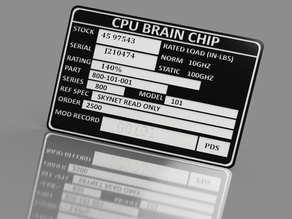 Carlz Terminator Brain Chip Tag