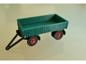 Flatbed Trailer 1:87 h0-scale 1/87