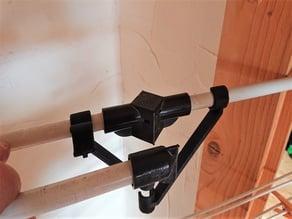 Laundry dryer reinforcement for broken joint