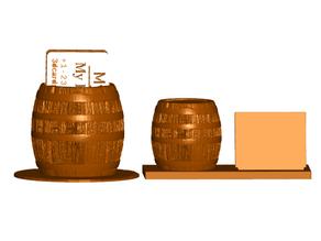 Barrel Business Card Holder (2 Styles)