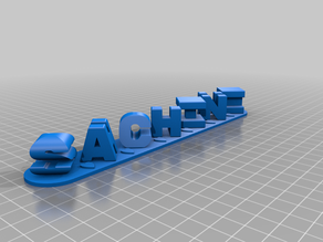 My Customized Triple Letter Blocks Ambigram