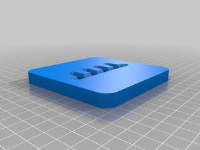 Test tile and tile holder extruder plates