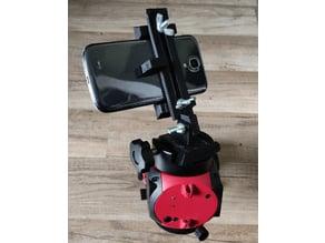 smartphone holder for astronomical mount