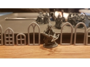 Medieval & Gothic Style Windows 28mm Scale for Foam Buildings