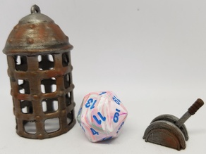 Dungeon Terrain: Lever and Cage (Dice jail)