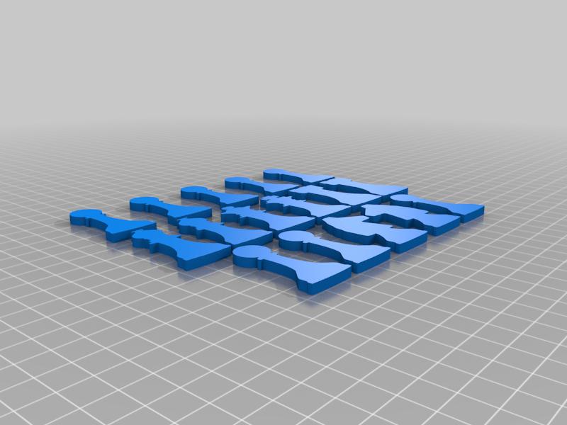 2D Chess Set - Model A2