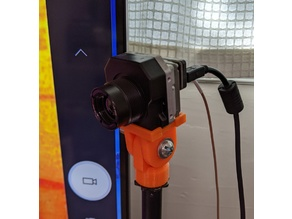 Flir Tau 2 Thermal Camera Tilt Mount for a Mic Stand and WFOV Focus Tool