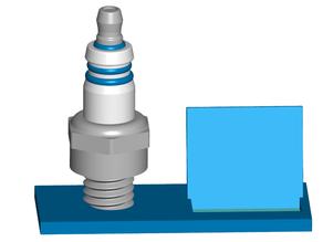 Spark Plug Business Card Holder