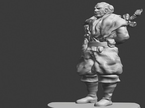 Male Fighter - Dungeons and Dragons Miniature