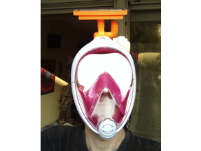 Roborock filter adapter for snorkeling mask