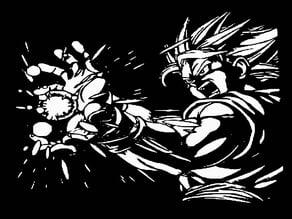 SS Goku stencil 5