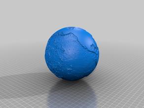3D4KIDS exercise: Sea depth of the globe