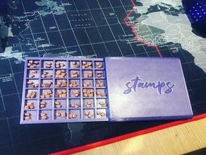 36 Slot Stamp Organizer and Holder