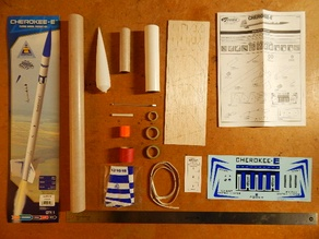 Estes Cherokee-E model rocket (kit #2408)