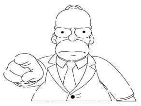 Homer Simpson stencil 3