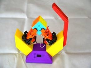 Rubik cube solver robot (V-shape)