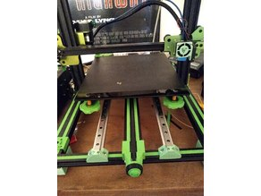 Y-axis with linear rails for Tevo Tornado, direct mount with ordinary u-profile